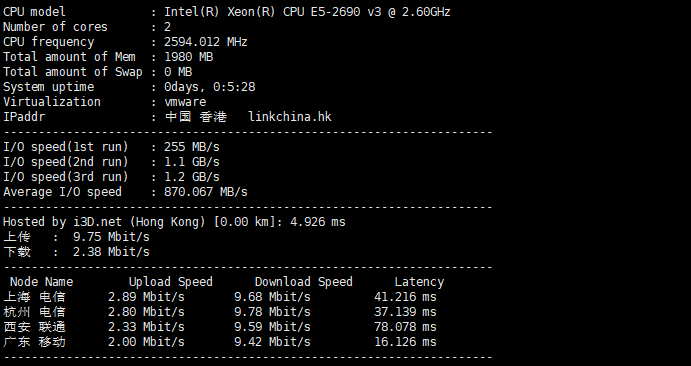 OnlineNIC免费3个月香港vps服务器
