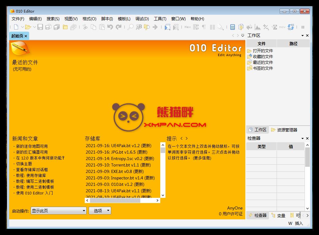 专业文本/十六进制编辑器 010 Editor v12.0 简体中文汉化版